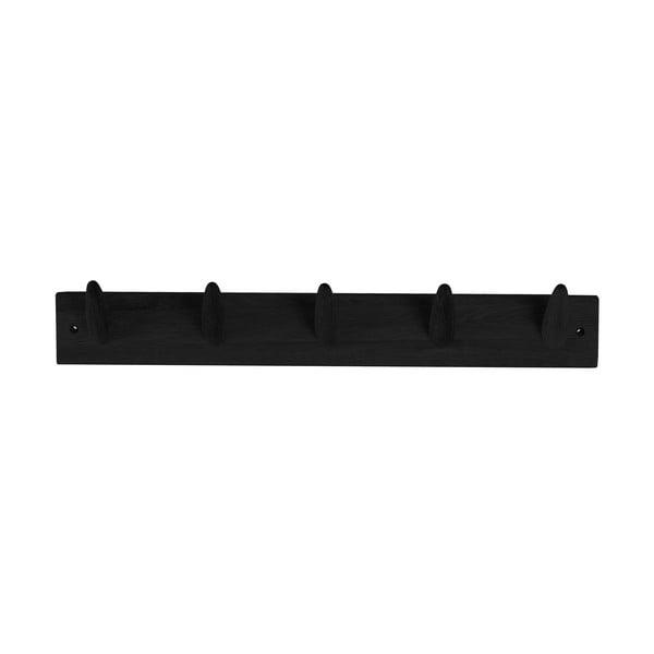 Czarny wieszak z drewna dębowego Canett Uno, szer. 60 cm