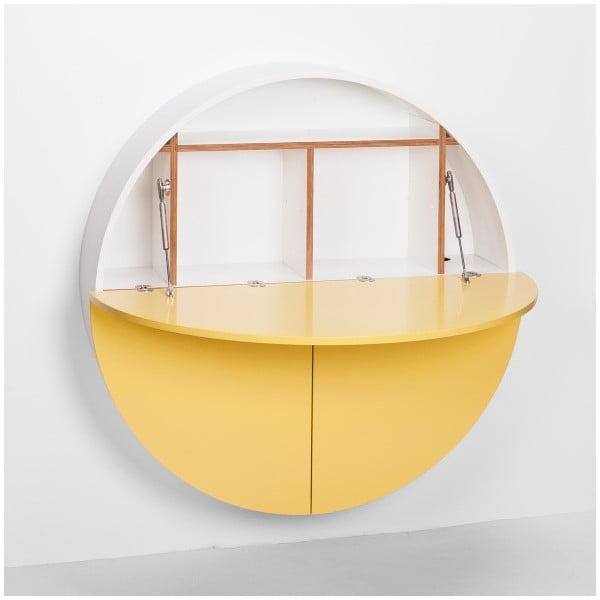 Pill sárga-fehér többfunkciós fali asztal - EMKO