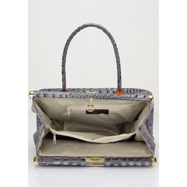 Šedá kožená kabelka Lisa Minardi Lantha