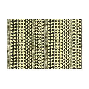 Vinylový koberec Étnico Crema Negro, 100x150 cm