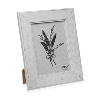 Ramă foto din lemn pentru fotografie Versa Madera Blanco, 15x20cm de la Versa