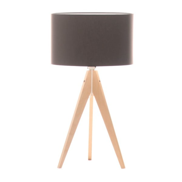 Stolní lampa Artist Dark Taupe/Birch, 40x33 cm