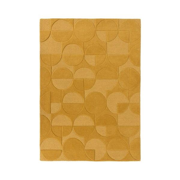 Koňakově hnědý koberec z vlny Flair Rugs Gigi, 160 x 230 cm