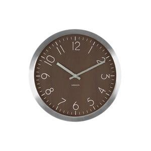 Hnědé hodiny Present Time Wood Charm