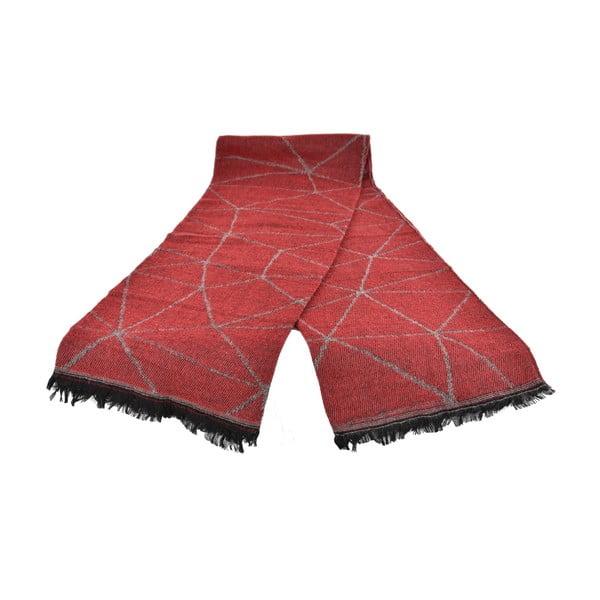 Czerwony damski szal z domieszką bawełny Dolce Bonita Sky, 170x90 cm