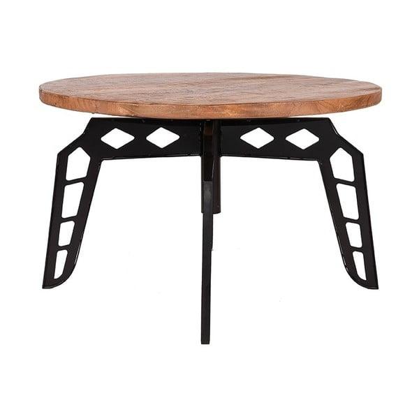 Odkládací stolek sdeskou zmangového dřeva LABEL51 Pebble, ⌀80cm