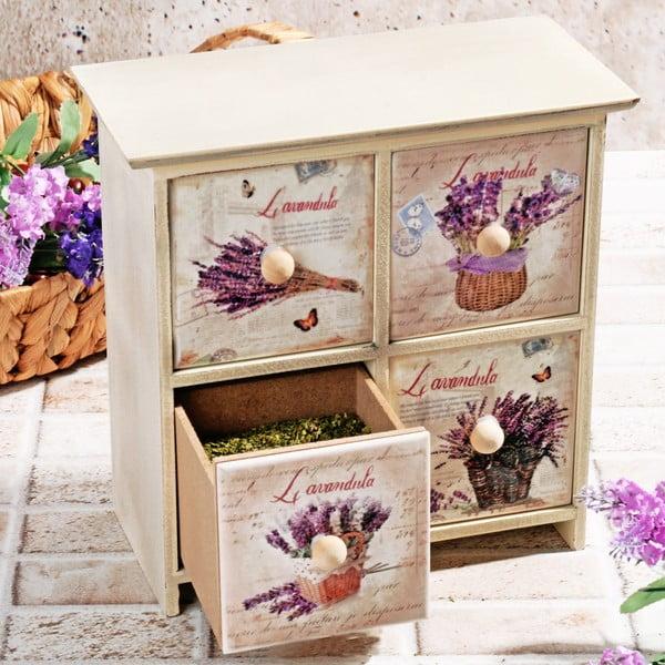 Dřevěná krabička na koření Four