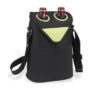 Cestovní termoobal na dvě lahve, černý