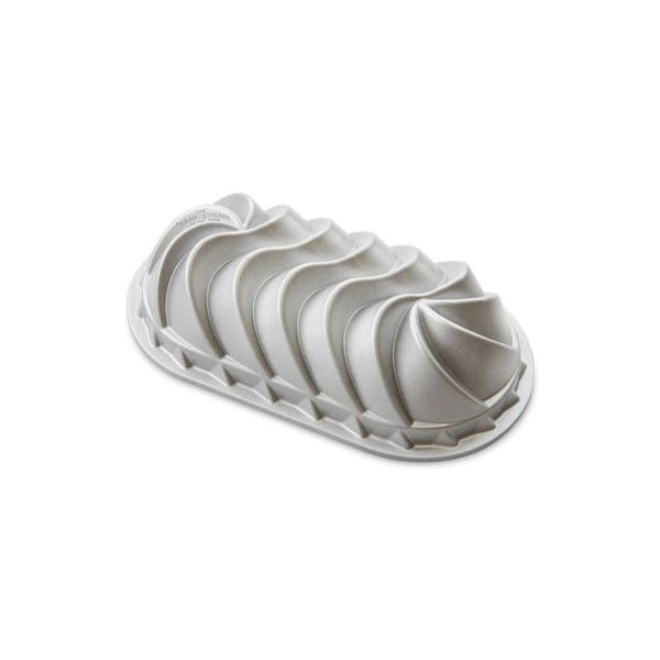 Podłużna forma do ciasta w srebrnym kolorze Nordic Ware Heritage, 1,4l