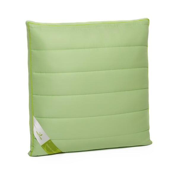 Zelený polštář s bambusovou výplní Perna Nature Green Future, 60x60cm