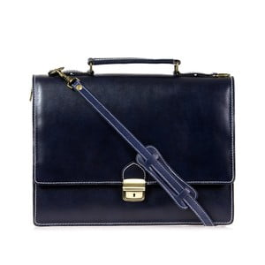 Tmavě modrá kožená pánská taška přes rameno Italia in Progress Raffaello
