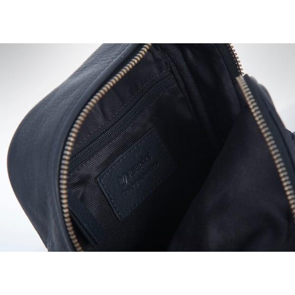 Kožená taška přes rameno Valentini 522, tmavě modrá