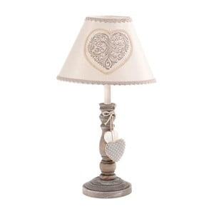 Rustikální stolní lampa Grey Heart