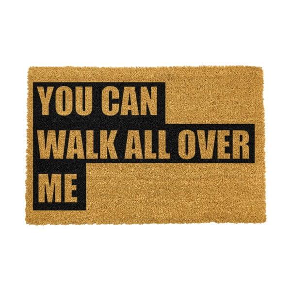 Covoraș intrare din fibre de cocos Artsy Doormats Walk All Over Me, 40 x 60 cm