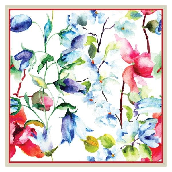 Sada 2 prostírání Nisha Flowers, 20x20 cm