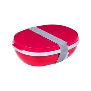 Červený dvojitý box na oběd Rosti Mepal Ellips, 825ml