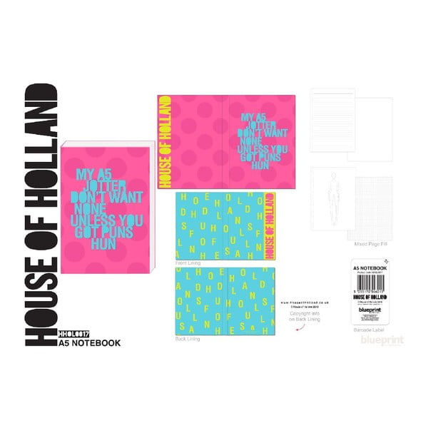 Agendă Blueprint Collections House Of Holland, A5