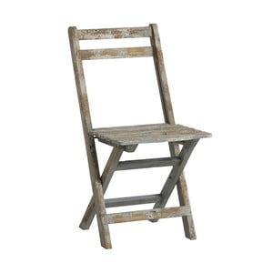 Dřevěná židle Chair, modrá patina