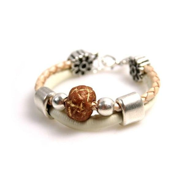 Náramek Ring Stone, hnědý