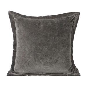 Polštář Velour Grey, 40x40 cm