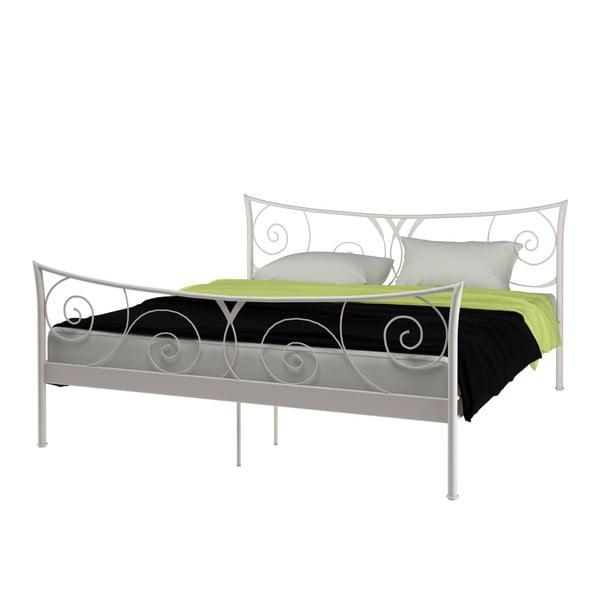 Biela kovová posteľ Støraa Elizabeth, 180×200cm
