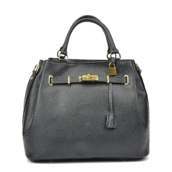 Černá kožená kabelka Isabella Rhea Lupe