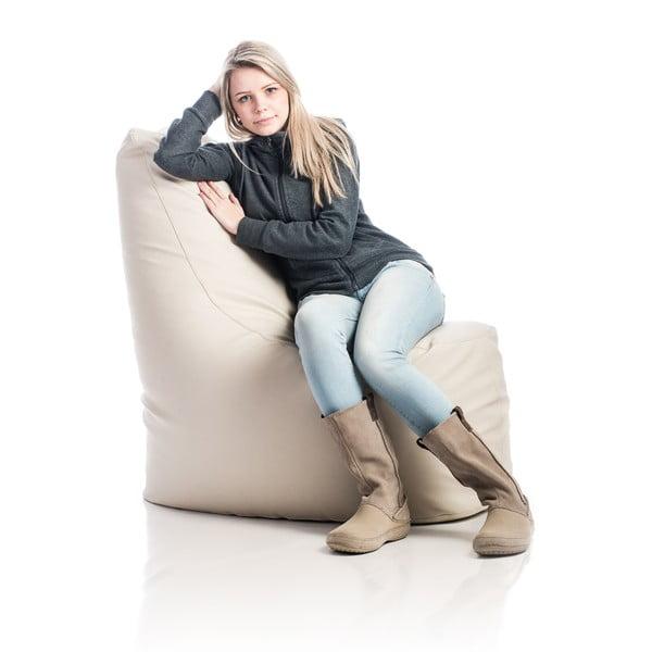 Kožený sedací vak Haci, bílý