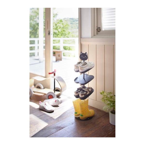Dětský černý stojan na boty YAMAZAKI Kid´s Shoe Rack