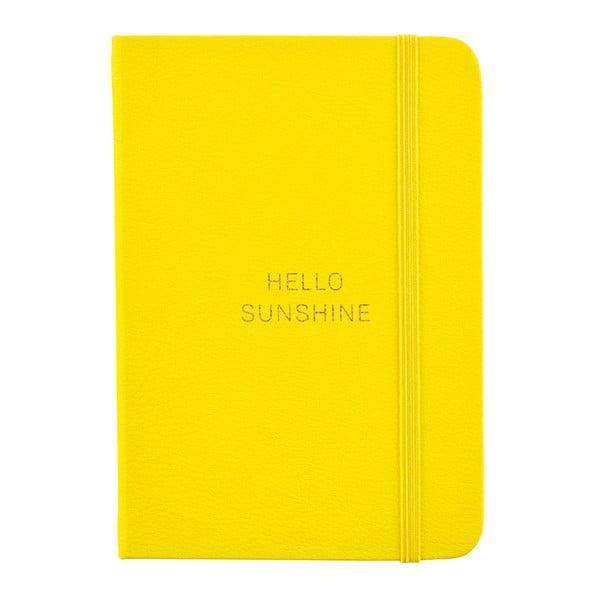 Žlutý zápisník o formátu A6 Busy B, 96 stran