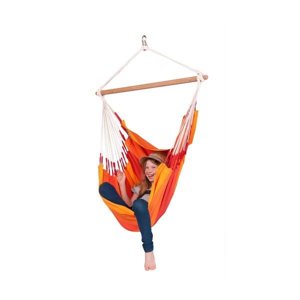 Houpací křeslo Orquidea, oranžová
