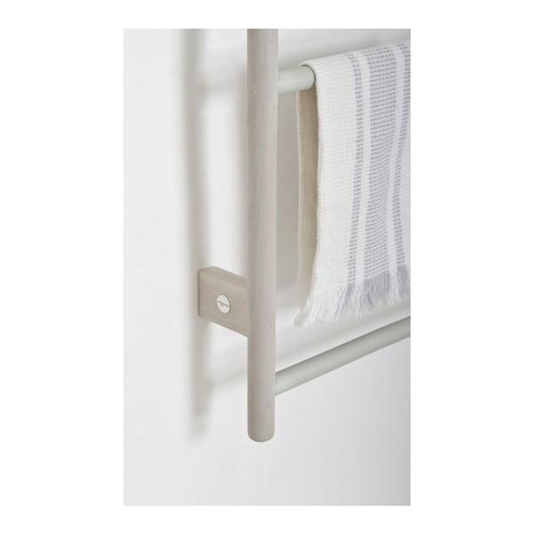 Šedý nástěnný držák na ručníky z dubového dřeva Wireworks Towel Rail Wallbar