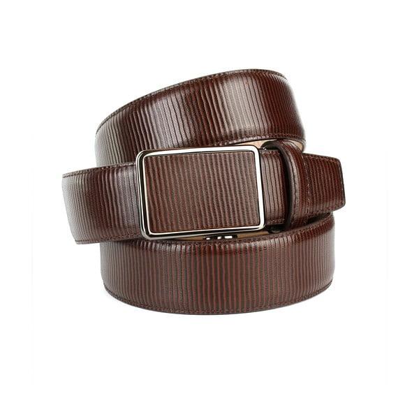 Pánský kožený pásek 37G30S Brown, 100 cm