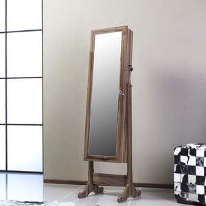Uzamykatelné stojací zrcadlo se šperkovnicí Isabella, třešňové