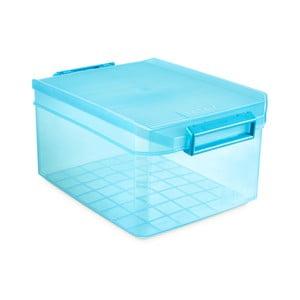Tyrkysový úložný box s víkem Ta-Tay Storage Box, 14 l