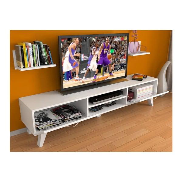 Televizní stolek Kuvars White