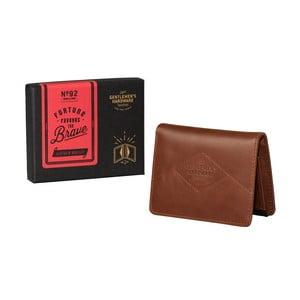 Hnědá kožená peněženka Gentlemen's Hardware