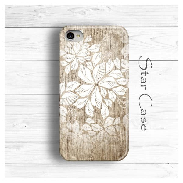 Obal na iPhone 4/4S Wooden Flowers Girly