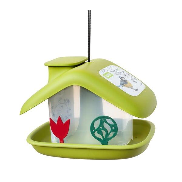 Domek zöld színű madáretető - Plastia
