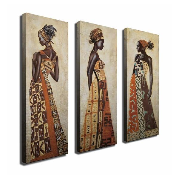 3-dielny obraz na plátne Lusaka