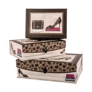 Sada 3 úložných krabic Audrey