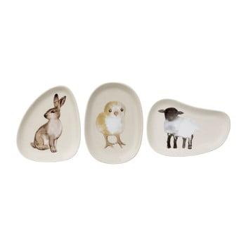 Set 3 farfurii din ceramică Bloomingville Easter de la Bloomingville