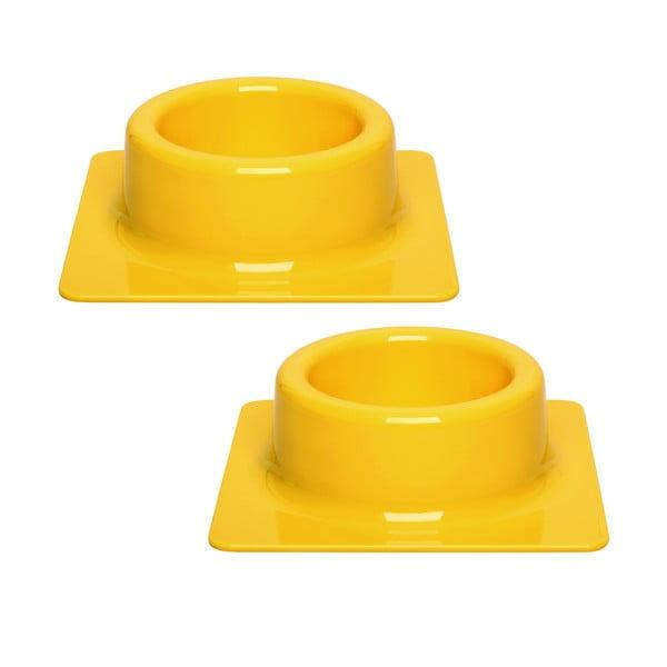 Sada misek Quadra 2 ks, žlutá