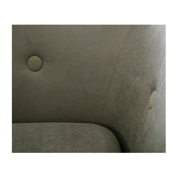Olivově zelená trojmístná pohovka Scandi by Stella Cadente Maison, pravý roh