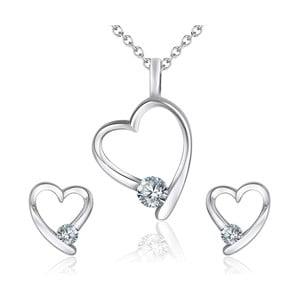 Sada náušnic a náhrdelníku Ruby Crystal