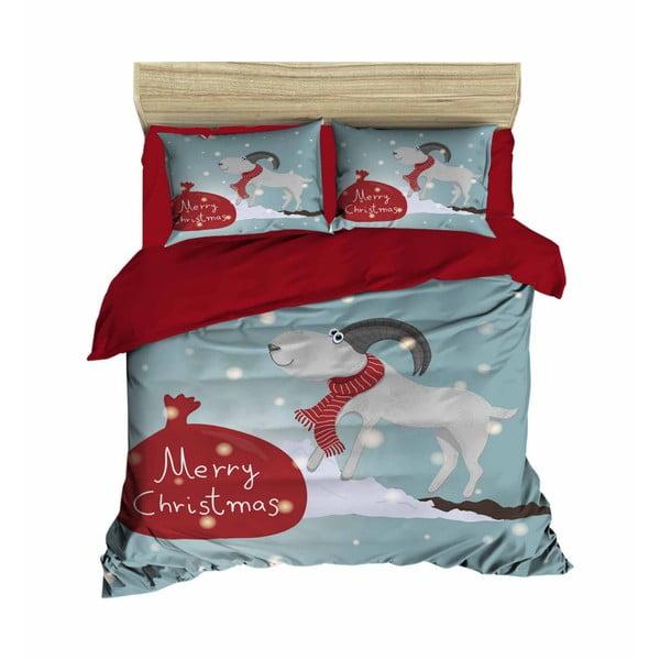 Amalia karácsonyi, kétszemélyes ágyneműhuzat lepedővel, 160 x 220 cm