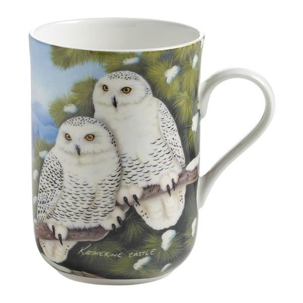 Hrnek z kostního porcelánu Maxwell&Williams Birds Owls, 330ml