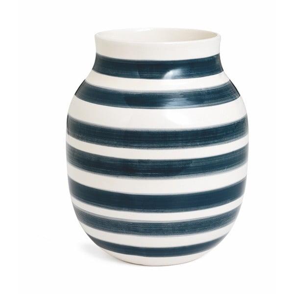 Sivo-biela kameninová váza Kähler Design Omaggio, výška 20 cm
