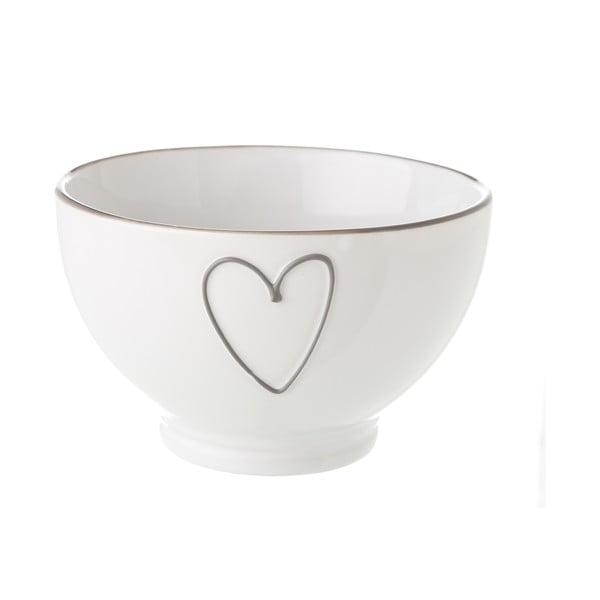 Heart fehér kerámia tálka, 580 ml - Unimasa