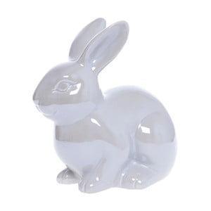 Bílá keramická dekorativní soška Ewax Pearl Rabbit Babette