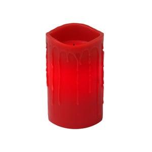 Červená LED svíčka s kapkami Best Season, 12,5 cm